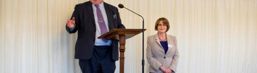 In London, UK Secretary of State Praises Baha'i Ideals